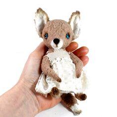 Little Teddy Fox Maya Artist Teddy Fox OOAK Handmade por LozArts