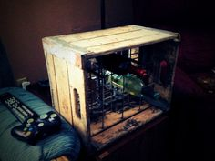 Vintage Wooden Milk Crate and Wine Rack by 1UniqueAntique on Etsy, $60.00