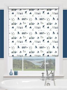Soak in serene tranquility with this nautical Blackout blind.