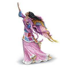 Keith Mallett Breast Cancer Awareness Angel Of Hope Figurine