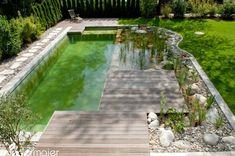 Swimming pool in the pleasure garden garden design Swimming Pool Pond, Natural Swimming Ponds, Natural Pond, The Pleasure Garden, Pond Water Features, Dream Pools, Cool Pools, Pool Designs, Dream Garden