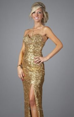 Strapless Sequin gown by Temptations 1041