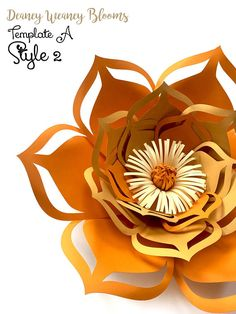 Paper Flower SVG and PDF Digital Templates. Template A Multi