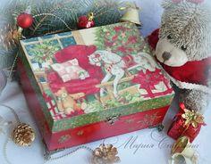 Декорируем шкатулку «Время подарков» - Ярмарка Мастеров - ручная работа, handmade