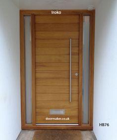 contemporary iroko door