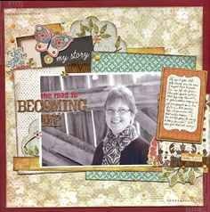 All About Scrapbooks: Get to know - Marlene - From the very talented Marlene B!!  Love the layering!