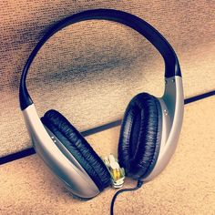 Need to tune out some noise while you study, or want to listen to your own tunes? The library has headphones available for 24-hour checkout!
