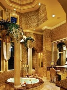 This has got to be the MOST AMAZING bathroom I've ever laid eyes on!!