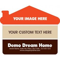 4.25x3.5 Personalized House Shape Magnets 20 Mil