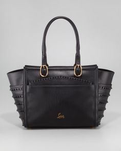 I might be willing it give up one of my kidneys for this bag.    Christian Louboutin Farida Spiked Bowler Bag, Black