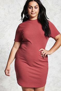 Plus Size Ribbed Dress