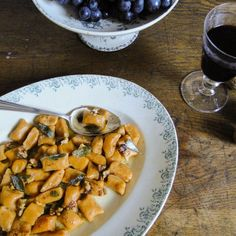 Sweet potato gnocchi with brown salted butter, walnuts & crispy sage recipe on Food52