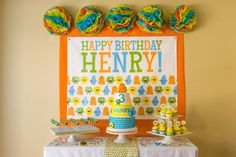 MONSTER BIRTHDAY PARTY BASH via Kara's Party Ideas karaspartyideas.com #monster #party #bash #birthday #idea #decor #cake #diy #favors #shop