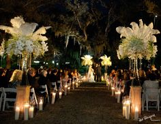 new orleans weddings . magical night time wedding
