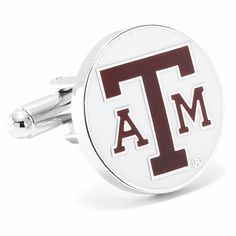 Silver NCAA Texas A/&M Aggies Adult Men Cufflinks