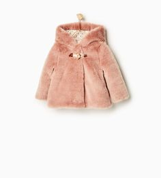 Three quarter length faux fur coat-COATS-Baby girl-Baby | 3 months - 3 years-KIDS | ZARA United States