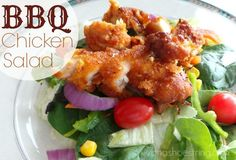 BBQ Chicken Salad Recipe; dinner, meal, barbeque