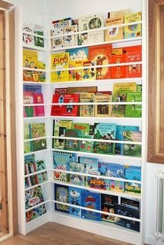 kids books arranged by color