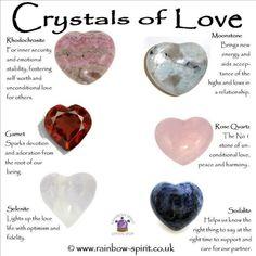 °Crystals of Love Chakra Crystals, Crystals And Gemstones, Stones And Crystals, Gem Stones, Healing Gemstones, Crystal Guide, Crystal Magic, Crystal Shop, Crystal Healing Stones