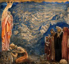 """Illustration by John Bauer for 'Spelmannen som fick Madonnans guldsko' from """"Bland Tomtar och Troll"""" (1915)"""