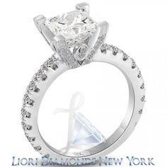 4.51 Carat E-SI1 Certified Princess Cut Diamond Engagement Ring 18k White Gold - Liori Exclusive Engagement Rings - Engagement - Lioridiamonds.com