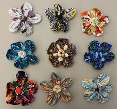 Nine ways to use fabric flowers in your decorating, gifts, and outfits! (Plus, a free pattern!)