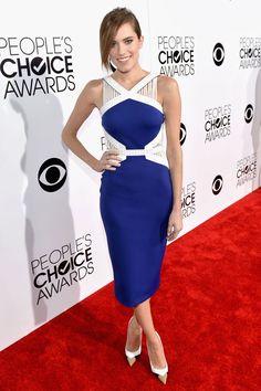 La alfombra roja de los People's Choice Awards. Allison Williams se enfundó uno de los ajustados diseños de David Koma.