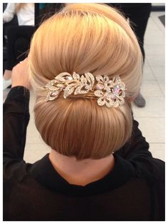 Bridal wedding hair updo