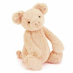 This is the brand new design Bashful Piggy. Size: 31cm (12ins). Price: £12.95 (GBP).