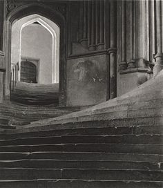 The Sea of Steps [Stairs to Chapter House - Wells Cathedral] 1903byFrederick H. Evans