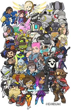 Overwatch Heroes Groupshot by KevinRaganit.deviantart.com on @DeviantArt