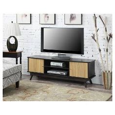 "Urban TV Stand White Sonoma Oak 59"" TMS Tar"