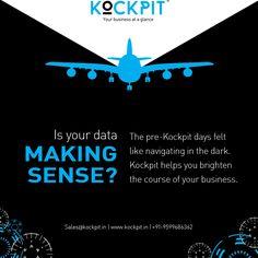 Is your data MAKING SENSE ?   #kockpit #data #analytics #bitool #businessintelligence #bigdata