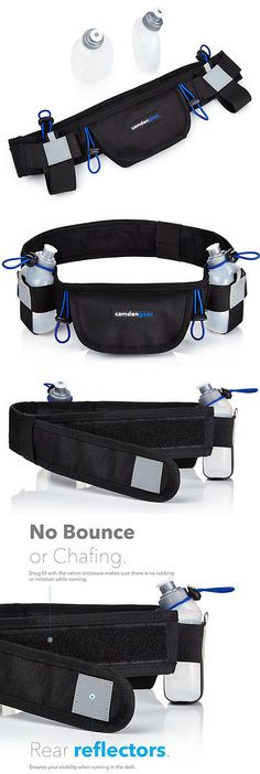 Running Belts 179802: Running Belt 2 Water Bottles 6.5 Pouch Fits All Smartphones Runners Waist Belt -> BUY IT NOW ONLY: $55 on eBay!