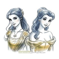 Animated and live action Belle Beauty and the Beast Disney Belle, Bella Disney, Disney Girls, Disney Love, Disney Princess, Disney Animation, Disney Pixar, Film Disney, Disney And Dreamworks