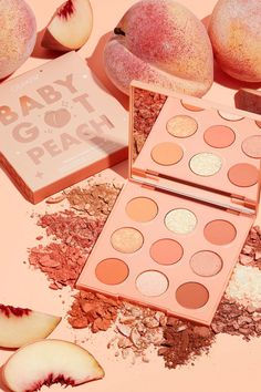 This pastel peach monochromatic palette is better than basic. With 9 shades and 3 different finishes, create a soft peachy look perfect for any occasion. Orange Aesthetic, Aesthetic Colors, Aesthetic Collage, Aesthetic Makeup, Aesthetic Pastel, Aesthetic Vintage, Peach Eyeshadow, Eyeshadow Palette, Peach Makeup