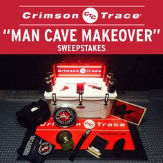 """Check out the Crimson Trace """"Man Cave Makeover"""" Sweepstakes. One grand prize worth over $1500 and four second prizes worth over $500 will be given away!"""