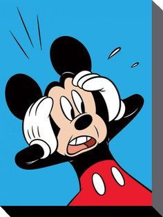 Mickey Mouse - Disney - Shocked - Official Canvas Print