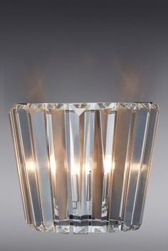 Buy Leila Wall Light from the Next UK online shop Next Wall Lights, Glass Wall Lights, Ceiling Lights, Faceted Glass, Clear Glass, Living Room Lighting, Kitchen Lighting, Chrome Plating, Glass Shades