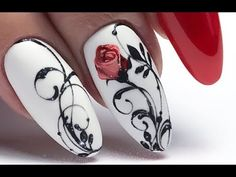 Organization Ideas for the Home - Gratis Beauty - 15 Romantic Elegant Nail Art Designs 2019 Elegant Nail Art, Trendy Nail Art, Cool Nail Art, Winter Nail Art, Winter Nails, Nail Art Arabesque, Romantic Nails, Valentine Nail Art, Luxury Nails