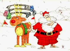 It looks like Santa has figured out a way to carry his clubs with him where ever he goes! Well played, Santa!