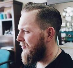 Comb Over with Mid-Length Sides - Crew Cut Haircut