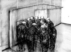William Kentridge, 'The Ten Doctors' from 'The History of the Main Complaint' 1996 Charcoal on paper
