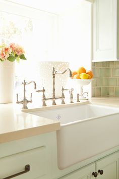Perfect sink and faucet. House of Turquoise: Brende Home (plus giveaway winner AND special coupon! Decor, Kitchen Inspirations, Interior, Home, Kitchen Remodel, Farmhouse Style Kitchen, New Kitchen, House Interior, Home Kitchens