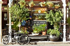 Yours Truly coffee shop, Long St, Cape Town. The most aesthetically pleasing place on Long to grab a quick coffee Cafe Restaurant, Cafe Bar, Love Store, Coffee Places, Coffee Wine, Small Cafe, Most Beautiful Cities, Shop Interior Design, Cape Town