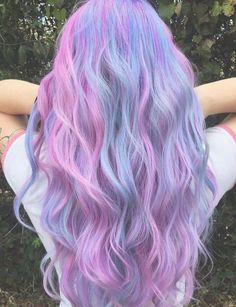 Inspiring Pastel Hair Color Ideas – My hair and beauty Cute Hair Colors, Pretty Hair Color, Hair Dye Colors, Unique Hair Color, Light Purple Hair, Hair Color Purple, Pink Purple, Haircut Diy, Fantasy Hair Color