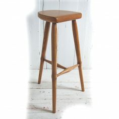 Three Legged Heirloom Oak Bar Stool