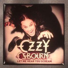 OZZY OSBOURNE Let Me Hear You Scream Record Cover Art Ceramic Tile Coaster