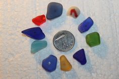 BEAUTIFUL BEACH GLASS Small center drilled by SWEPTASHORESEAGLASS, $8.50