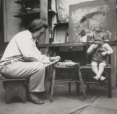 Joan Eardley: the forgotten artist who captured Scotland's life and soul. Photograph by Audrey Walker: Collection Scottish National Gallery of Modern Art Popular Artists, Famous Artists, Gallery Of Modern Art, Glasgow School Of Art, Soul Art, The Guardian, Art Studios, Artist At Work, Scotland